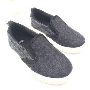 GYMBOREE black wool slip-on sneakers baby sz 5